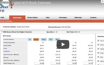 Digital NCR Book Estimate
