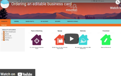 Ordering An Editable Business Card