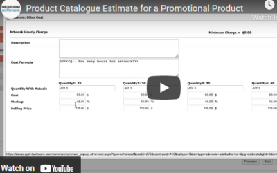 Product Catalogue Estimate For A Promotional Product